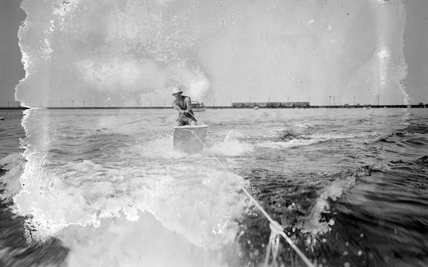 aquaplaning came before water skiing. It was also an invention of the 1920s and early 1910s