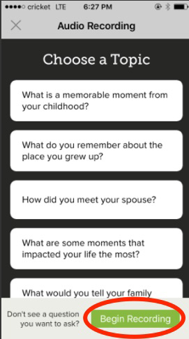 How audio recordings on the FamilySearch app can help you preserve your family stories!