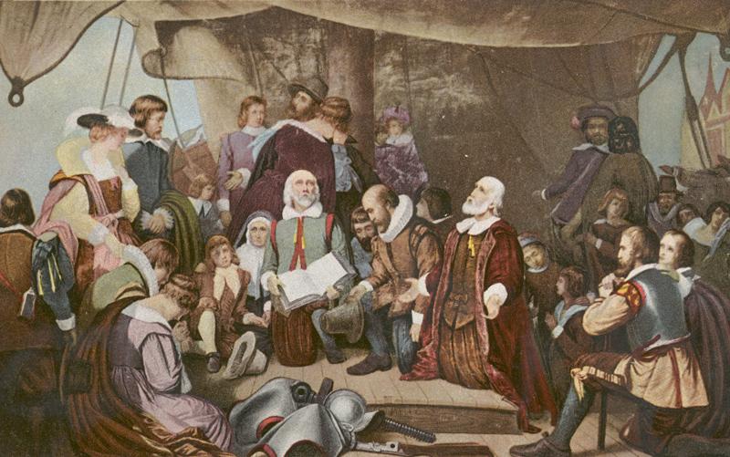 pilgrims aboard mayflower