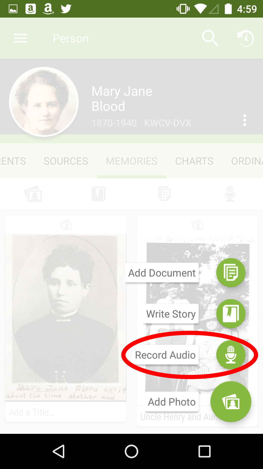 Why you should try the FamilySearch Memories audio recording feature.