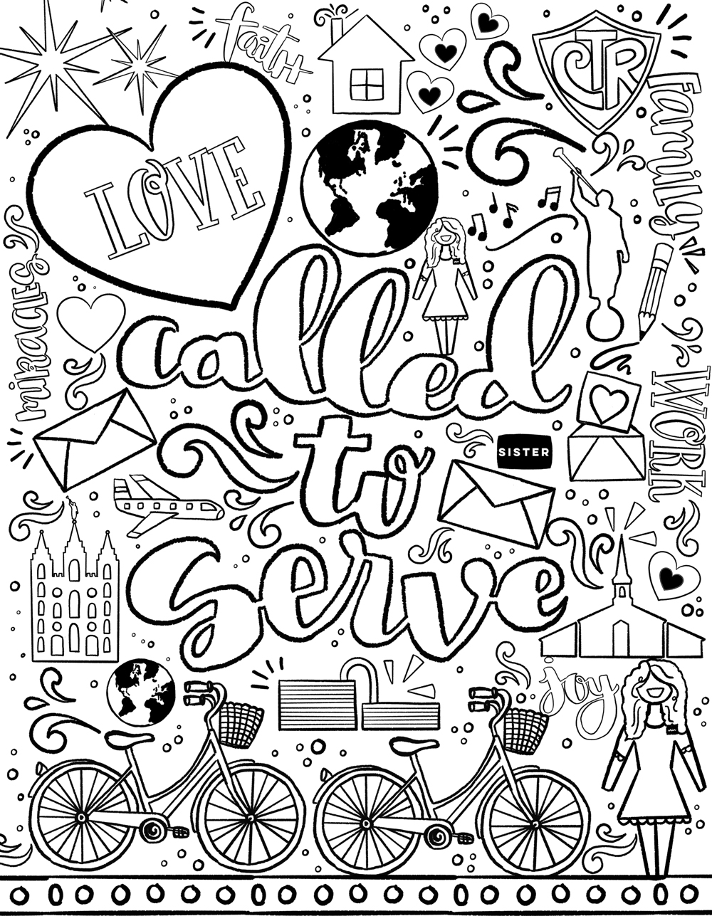 missions coloring pages - photo#18