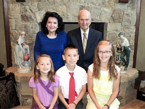 President Nelson and his family participate in indexing