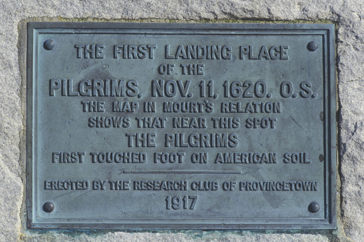 image of first landing plaque
