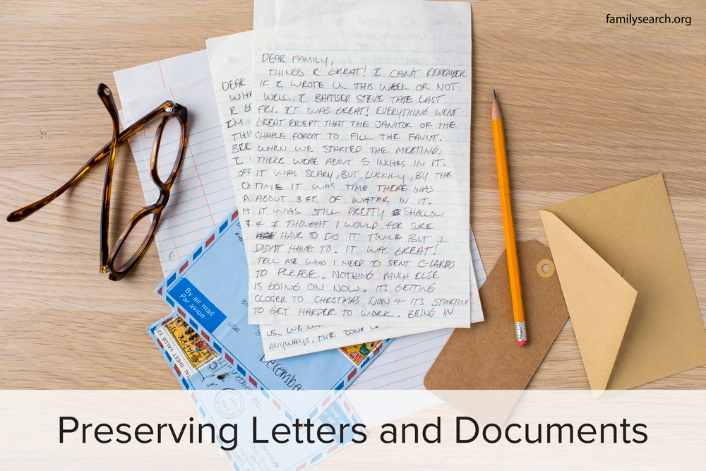 Family History Preservation: Preserving Your Family's Letters and Documents