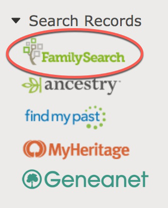 Sidebar for searching records on person page so you can find your ancestors