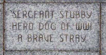 Sergeant Stubby's memorial at Liberty Memorial.