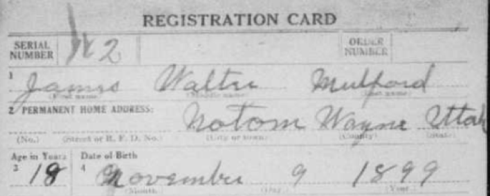 Draft registration cards can help you find military ancestors.