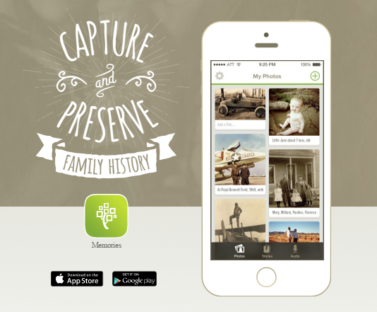 Family History Simple Start: Memories App