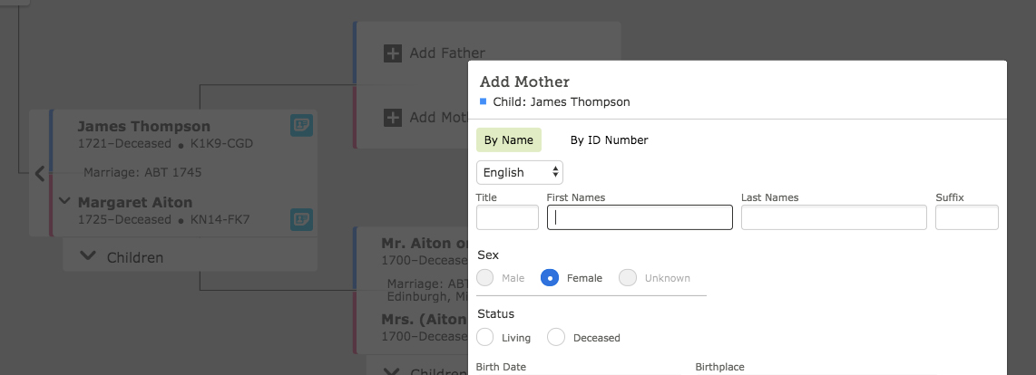 How a Family Tree will help you research your ancestors.