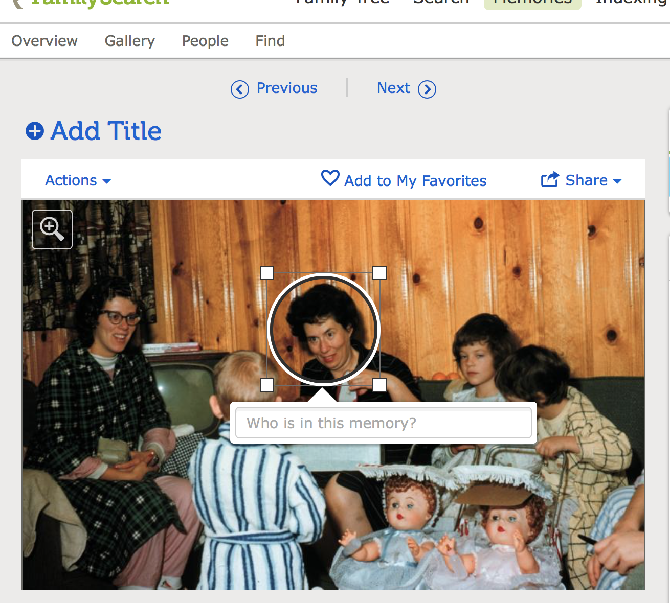 Preserve and share family photos with FamilySearch memories.