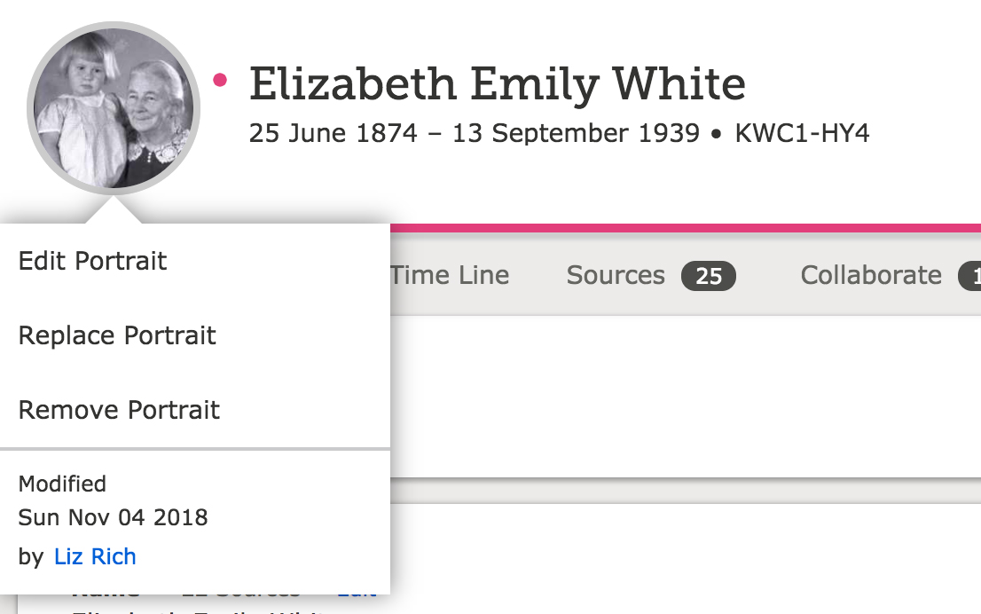 FamilySearch portrait update