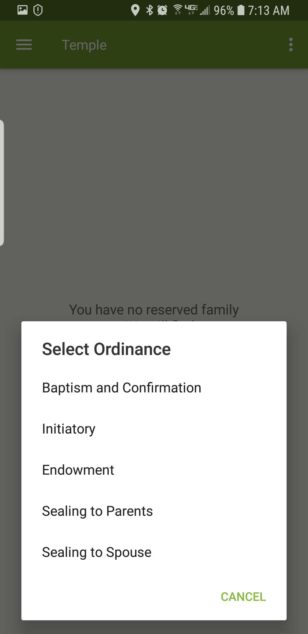 FamilySearch requesting temple ordinances