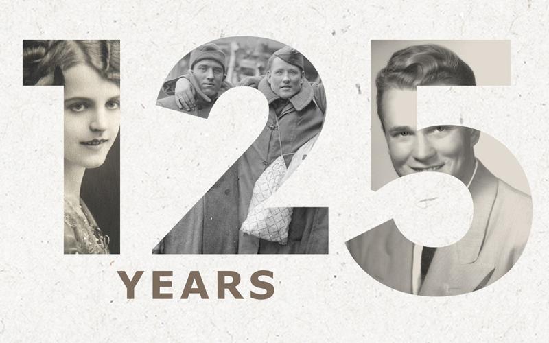 125 years FamilySearch anniversary logo