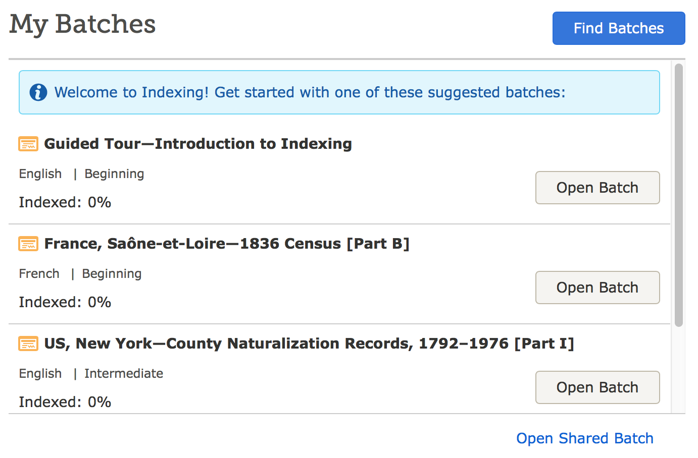 This guided tour can help you get started with indexing.