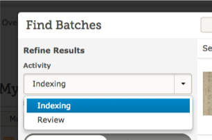 Reviewing replaces arbitrating in FamilySearch Indexing.