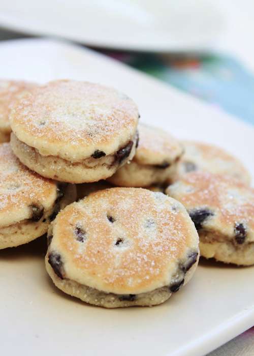 welsh cakes on a tray.