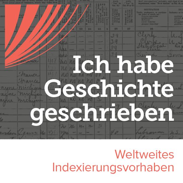 Abzeichen für die weltweite Indexierungsaktion
