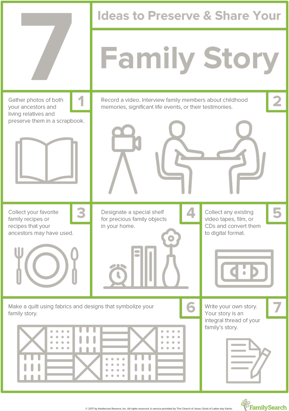 Try these 7 simple ways to preserve your family story.