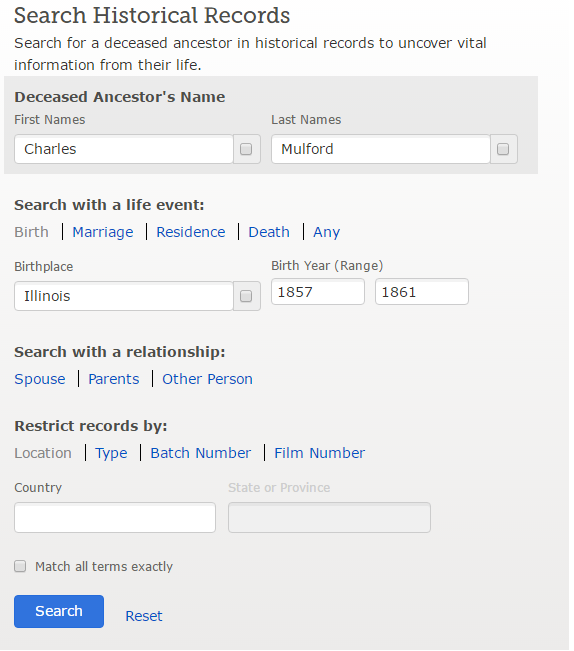 How to Search Historical Records on FamilySearch