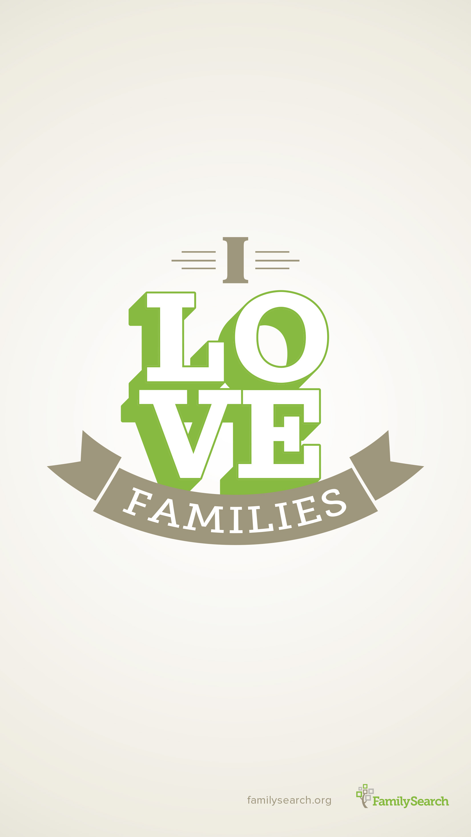 Free I HEART families cellphone wallpaper download