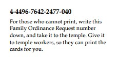 Print temple ordinance cards at home